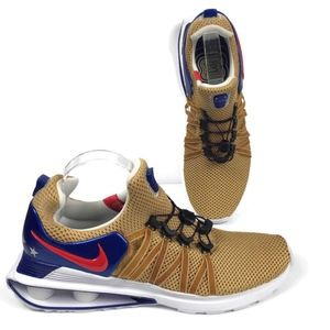 Nike Shox Gravity Olympic Gold Athletic Shoes NEW